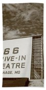 Route 66 Drive-in Theatre Beach Towel by Frank Romeo