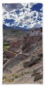 Ruins At Basgo Monastery Leh Ladakh Jammu And Kashmir India Beach Towel