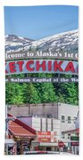 Scenery Around Alaskan Town Of Ketchikan Beach Towel
