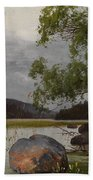 Shore Landscape Beach Towel