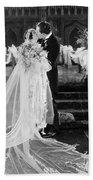 Silent Film Still: Wedding Beach Towel