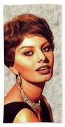 Sophia Loren, Vintage Movie Star Beach Sheet