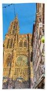 Strasbourg,christmas Market, Alsace France  Beach Towel