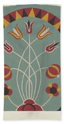 """Study For Proposed Portfolio """"decorated Chests Of Rural Pennsylvania"""" Beach Towel"""