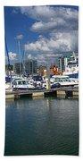 Sutton Harbour Plymouth Beach Towel