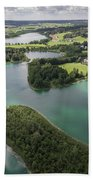 Suwalki Landscape Park, Poland. Summer Time. View From Above. Beach Towel