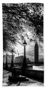 The River Thames Path Beach Towel