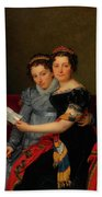 The Sisters Zenaide And Charlotte Bonaparte Beach Towel
