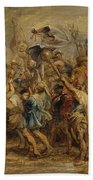 The Triumph Of Henry Iv Beach Towel