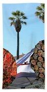 4 Umbrellas Day Of The Dead  Beach Towel