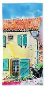 View Of Luberon Beach Towel