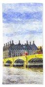 Westminster Bridge And Big Ben Art Beach Towel