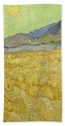 Wheatfield With A Reaper Beach Towel