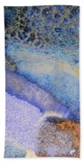 42. Blue Purple Black Glaze Painting Beach Towel