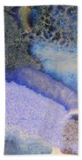 42. V1 Blue Purple Black Glaze Painting Beach Towel