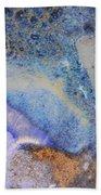 42. V2 Blue Purple Orange Black Glaze Painting Beach Towel