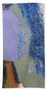 44. Blue Purple White Glaze Painting Beach Towel