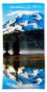 Landscape Oil Painting Beach Towel