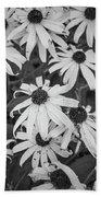 4400- Daisies Black And White Beach Towel