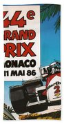 44th Monaco Grand Prix 1986 Beach Towel