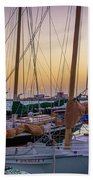 4956- Key West Harbor At Sunset Beach Towel