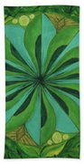 4th Mandala - Heart Chakra Beach Towel