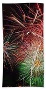 4th Of July Fireworks Display Portland Oregon Beach Towel
