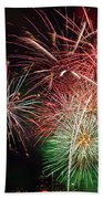 4th Of July Fireworks Display Portland Oregon Beach Sheet