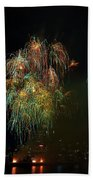 4th Of July Fireworks From The Barge Portland Oregon Beach Towel