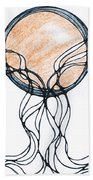 Abstract Pencil Pattern Beach Towel