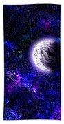 Abstract Stars Nebula Beach Towel