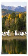 Autumn Aspen At Crystal Creek Reservoir Pikes Peak Beach Towel