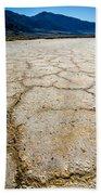 Badwater Basin Death Valley Salt Formations Beach Towel