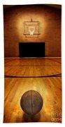 Basketball And Basketball Court Beach Towel