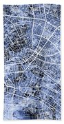 Berlin Germany City Map Beach Towel