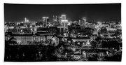 Birmingham Alabama Evening Skyline Beach Towel