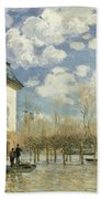 Boat In The Flood At Port Marly Beach Towel