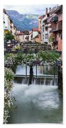 Canals Of Annecy Beach Towel