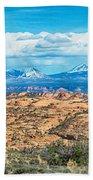 Canyon Badlands And Colorado Rockies Lanadscape Beach Towel