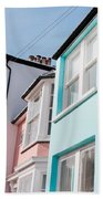 Colorful Houses Beach Towel