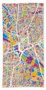 Dallas Texas City Map Beach Sheet