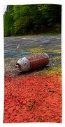 Discarded Spray Paint Can Beach Towel