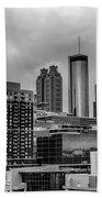 Downtown Atlanta, Georgia Usa Skyline Beach Towel