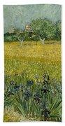 Field With Flowers Near Arles Beach Towel