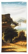 Lake George And The Village Of Caldwell Beach Towel