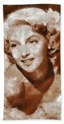 Lana Turner Vintage Hollywood Actress Beach Sheet
