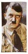 Leaders Of Wwii, Adolf Hitler Beach Towel