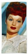 Lucille Ball, Vintage Actress Beach Towel