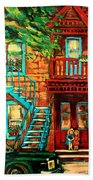 Montreal Paintings Beach Towel