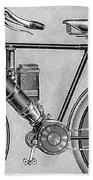 Motorcycle, 1895 Beach Towel